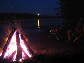 East Jordan house photo - Fires by the Lake