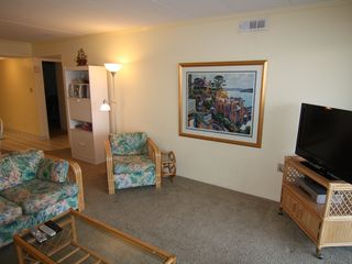 Vacation Homes in Ocean City condo photo - Left Side of Living Room; New 1080P HD TV