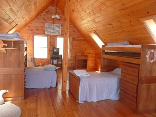 Wolfeboro cabin photo - Loft bedroom on upper level