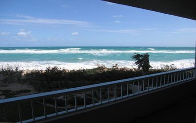 Your private ocean front balcony- nothing between you & the beach- email 4 video