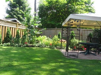 Back garden with gazebo where you can relax and enjoy the tranquility!