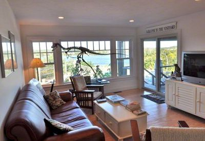 Den/TV Room on First Floor Has Views & Door To Pool
