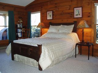 Boone cabin photo - The Master Suite has a Queen Size Bed and a Claw-Foot Bath with Shower
