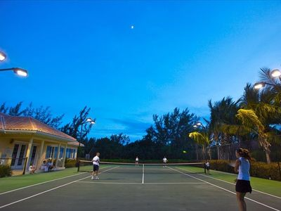 Floodlit tennis court, on-site,  Racquets and balls available from Concierge