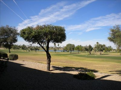 The golf course from the patio