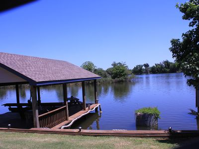 large covered dock for fishing or relaxing