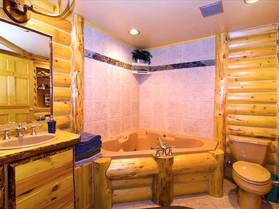 Solitude chalet rental - Downstairs Bathroom with Jacuzzi Tub and Separate Shower