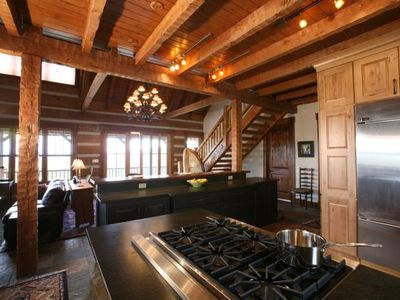 Gourmet kitchen, northern view--Viking, Bosch, fully equipped