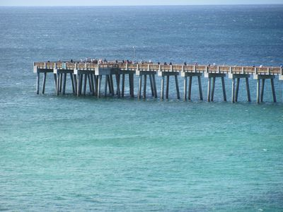 You can walk the Pier & fish from it too! King mackerel & many others abound!
