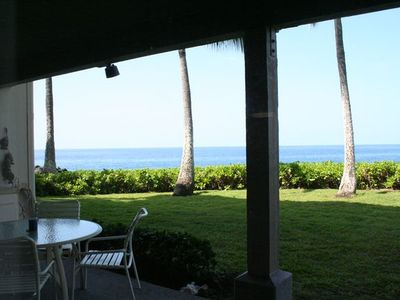 Enjoy every meal on your oceanfront lanai - 180 degree views of the Pacific