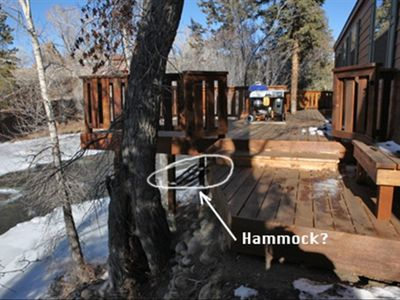 Intimate RiverFront Dining and Under Deck Hammock.... meditation deck