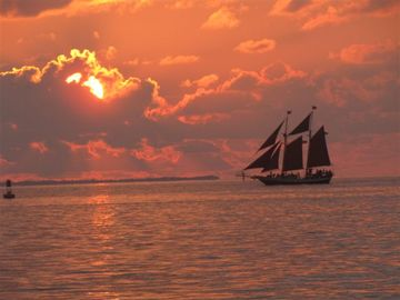 A typical sunset at Fort Zachary