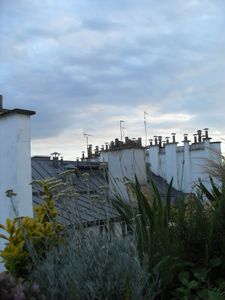 Rooftop with chimney top views