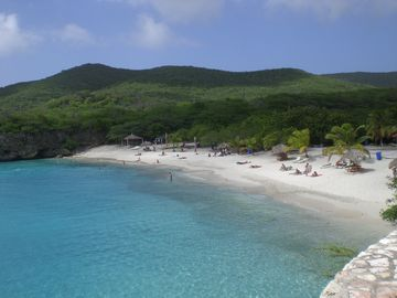 White sand beaches of Playa Grande Knepe is just a 5 minute drive