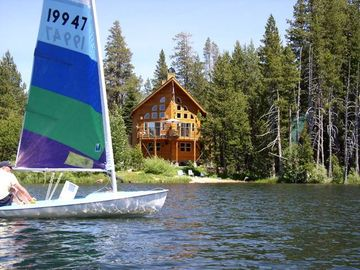 Soda Springs house rental - Small private sand area with great boat access to the lake.