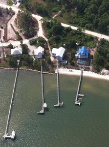 Aerial view....Choppy's Heir is the house with the BLUE ROOF.
