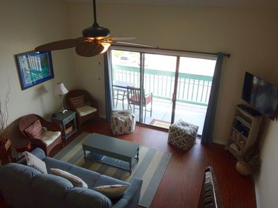 Living room area with great views of the beautiful beach and gulf looking out the large patio window