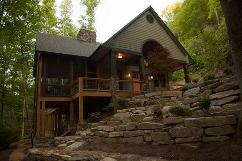 Luxury creekside cabin hot tub 2 fireplaces vrbo Smoky mountain nc cabin rentals