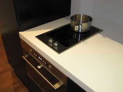 Induction cook top, microwave oven