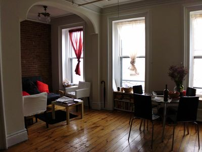 Brooklyn apartment rental - living room w/1 sofa bed