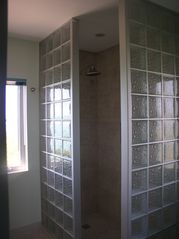 Providenciales - Provo apartment photo - The Bubble Glass Shower!