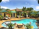 Pool Deck with Lounge Chairs, Outdoor Bed & Dining - Fort Lauderdale villa vacation rental photo