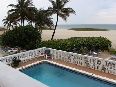 OUR POOL IS HEATED & STEPS DOWN TO THE BEACH!!
