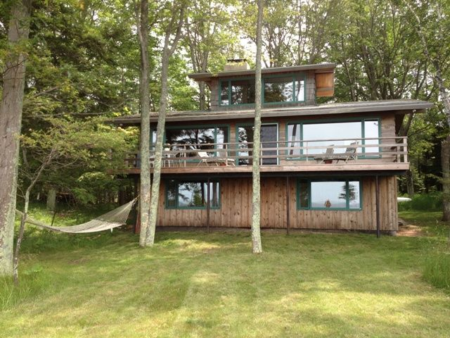 Lake Michigan Cabin Private Secluded Homeaway Manistee
