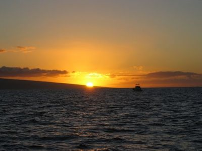 Maui sunset - taken from a sunset cruise (not included with room)