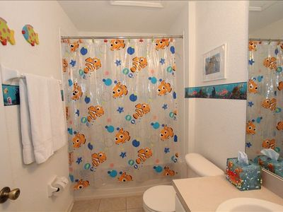 Finding Nemo Kid's bathroom with full size shower and tub
