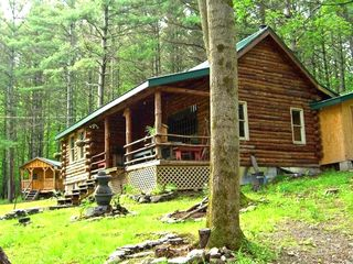Charming Rustic Amp Secluded Log Cabin Homeaway Tioga