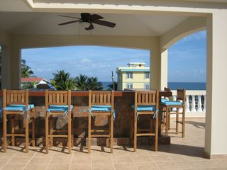 Rooftop Bar With Oceanviews - Rincon villa vacation rental photo