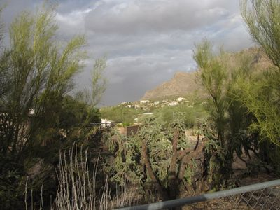 View from backyard looking North at the Santa Catalina Mountains.