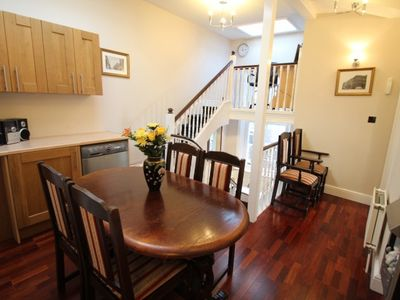 Three bedroom apartment dining area