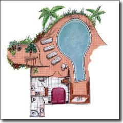 Marigot Bay apartment photo - first level floor plan unit 2