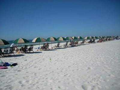 Beach rentals are available along the endless white sandy beach!