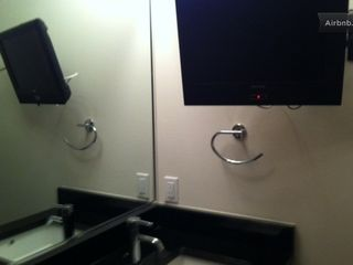 Austin apartment photo - lcd tv in the bathroom for bathtub viewing!