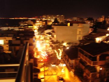 View at night down Olas Altas from roof top
