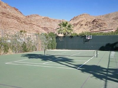 Palm Springs estate rental - Private Tennis/Sports Court