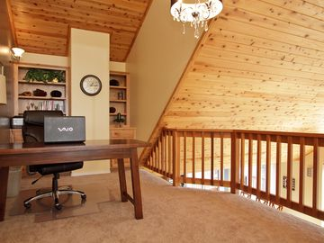 Loft Office Adjacent to Upper Level Master. Fax/Copier/High speed internet.