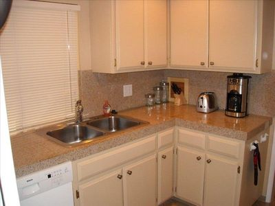 Kitchen with granite counters, gas stove,new appliances