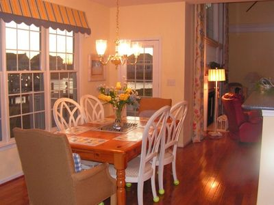Bethany Beach house rental - Spacious Kitchen Breakfast Area - view of lake/fountain
