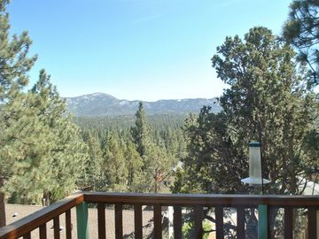 Bear Mountain cabin rental - view from sundeck