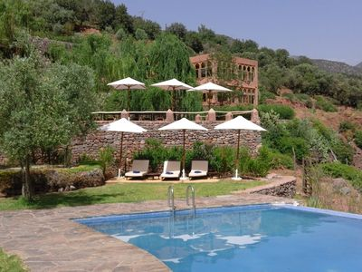 Family-friendly Nature Lodge With Private Pool, River & Atlas Mountain Views