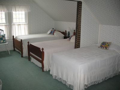 Dorm-style bedroom - great for kids! (New mattresses; one bed not shown.)
