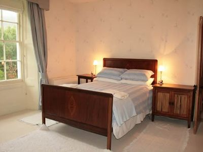 Tywyn house rental - Blue bedroom.