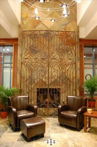 Warm, inviting lobby
