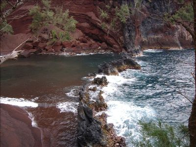Red Sand Beach is one of the many treasures of Hana.