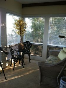 Sunroom with view of Grand Traverse Bay