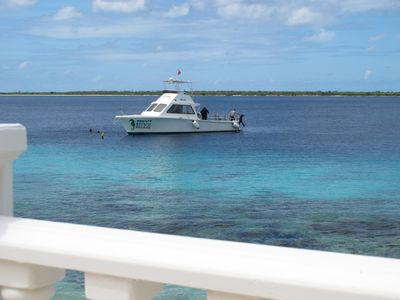 Bonaire apartment rental - People pay others to dive our house reef